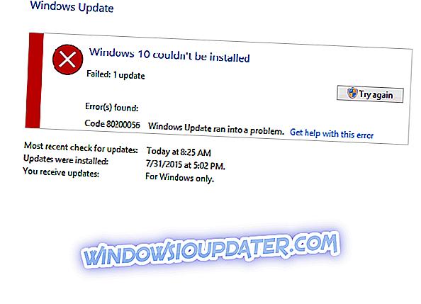 Javítsuk ki a Windows 10 hibát 80200056 a 3 gyors módszer alkalmazásával
