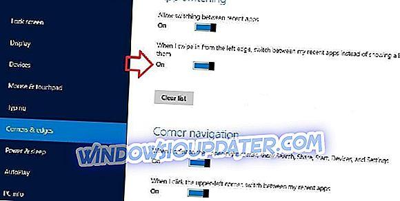 Fix: Right Swipe ikke fungerer i Windows 10, 8.1