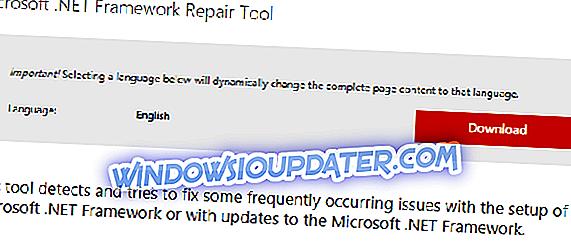 Решите .НЕТ Фрамеворк 4.5, 4.5.1 Проблеми са овом алатком за поправке