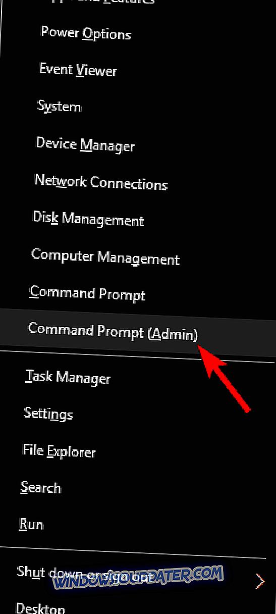 de71b6271ae Käivitage käsuviip administraatorina . Selleks vajutage Windowsi klahvi + X  ja valige loendist käsuviip (admin) .