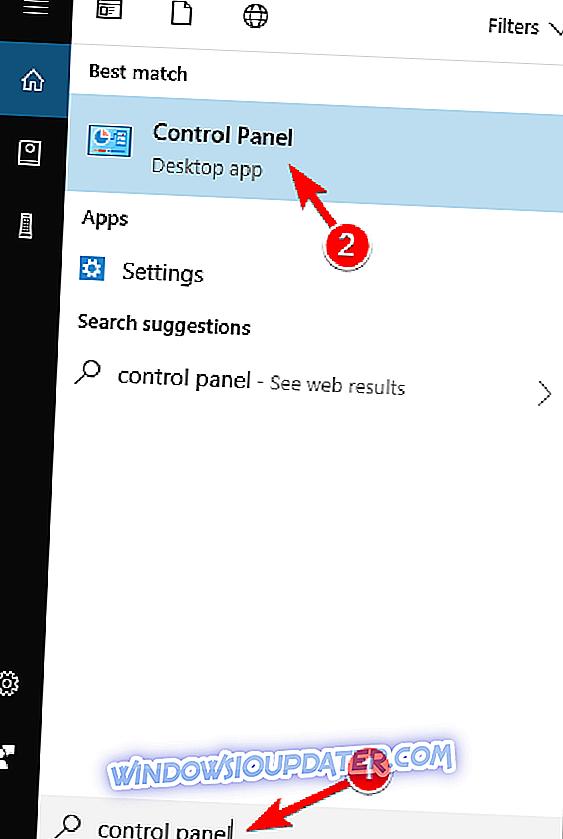 8b49d2cd550 Vajutage Windows Key + S ja kirjutage juhtpaneel . Valige loendist Control  Panel (Juhtpaneel) .