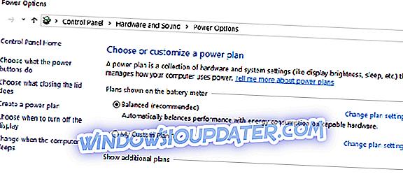 Fix: Informacije o planu napajanja nisu dostupne u sustavima Windows 10, 8, 8.1