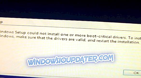 CỐ ĐỊNH: Thiết lập Windows không thể cài đặt một hoặc nhiều trình điều khiển quan trọng khởi động