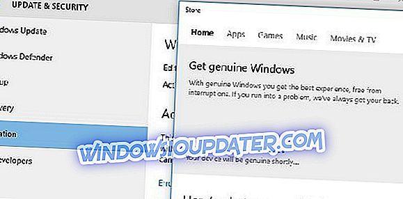 """수정 : Windows 10에서 """"장치가 곧 정품이됩니다.""""오류"""