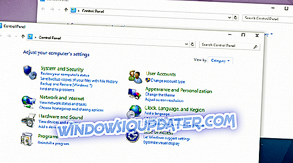 POPRAVEK: Dve nadzorni plošči Windows Open v Windows 10