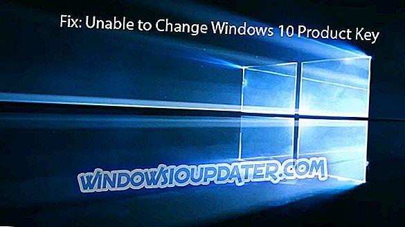 FIX: Kan ikke ændre Windows 10 Produktnøgle