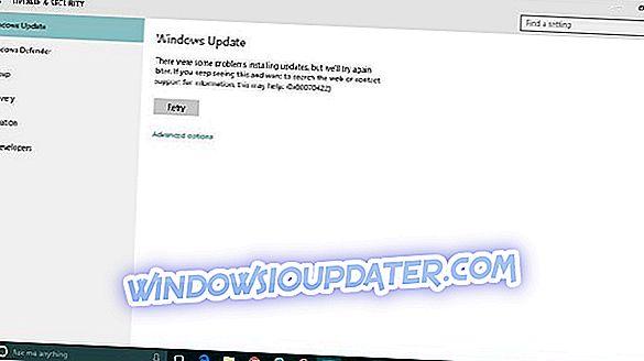 Correção: Windows 10 Update Error 0x80070422